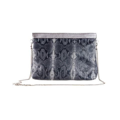 The Pepper Clutch-Black/Grey