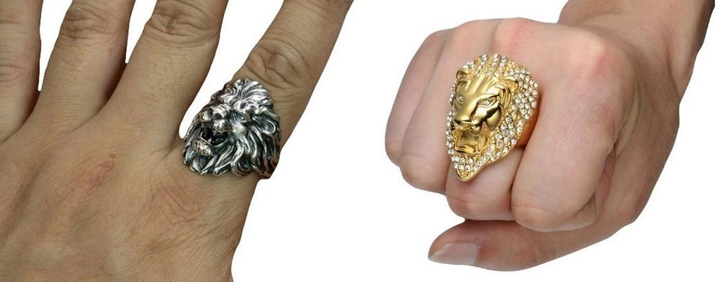 Two lion rings