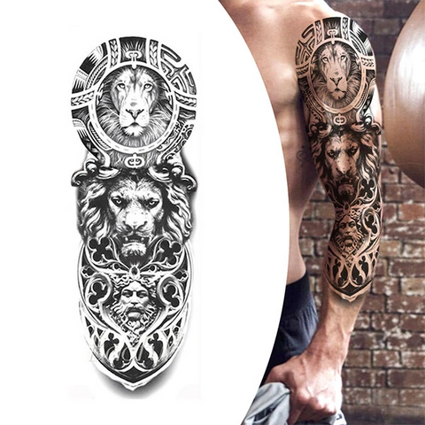 Lion Temporary Tattoo Royal Force