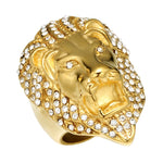 Lion Head Hip Hop Ring