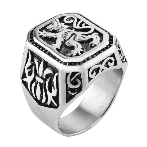 Lion Ring Sovereignty (Silver Color)
