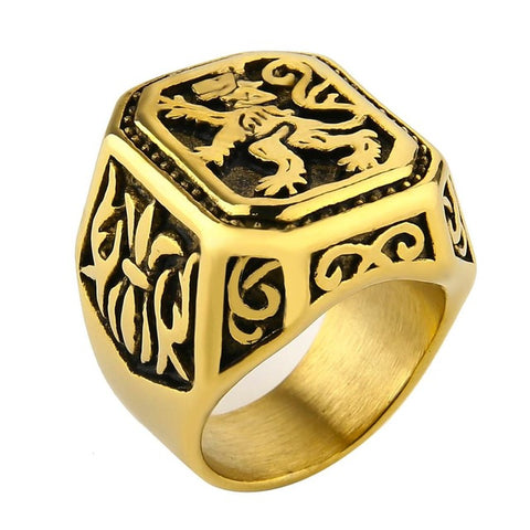Lion Ring Sovereignty (Gold Color)