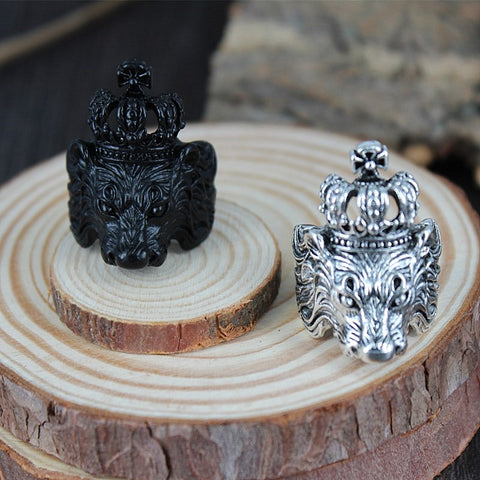 Lion Head Ring Wise King (Silver Color)