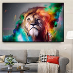 Lion Painting Multicolor