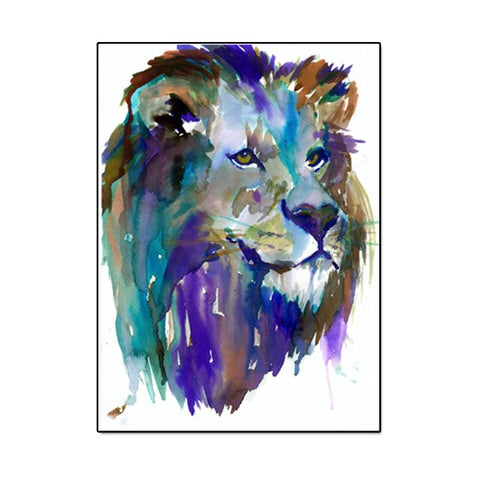 Lion Painting Drawing - 60x80cm No Frame / 1222d9408b3c7e