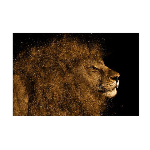 Lion Painting Mane - 50x70cm No Frame / 1574 lion