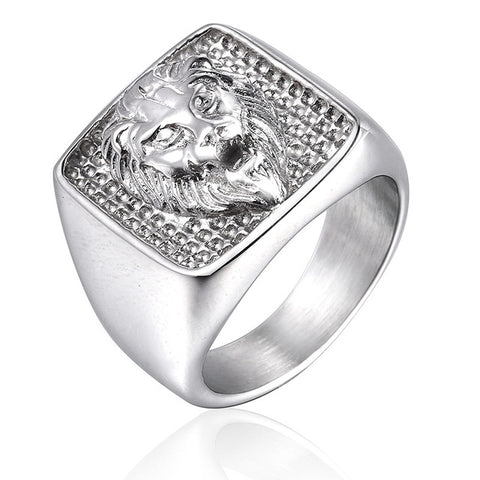 Lion Head Ring Greatness of Spirit (Silver Color)