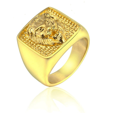 Lion Head Ring Greatness of Spirit (Gold Color)