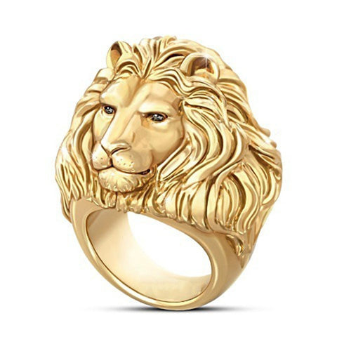 Gold Lion Ring Glory