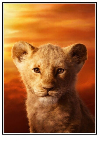 Baby Lion Poster - 11 / 30X21cm 11X8 inch