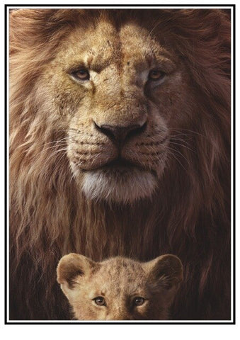 Poster of a lion and his son - 12 / 30X21cm 11X8 inch