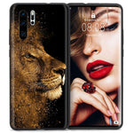 Lion Huawei Case Gold Dust