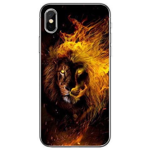 Lion iPhone Case Fire