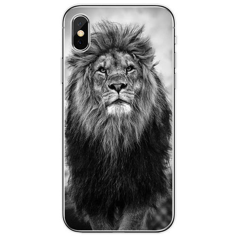 Lion iPhone Case Black and White