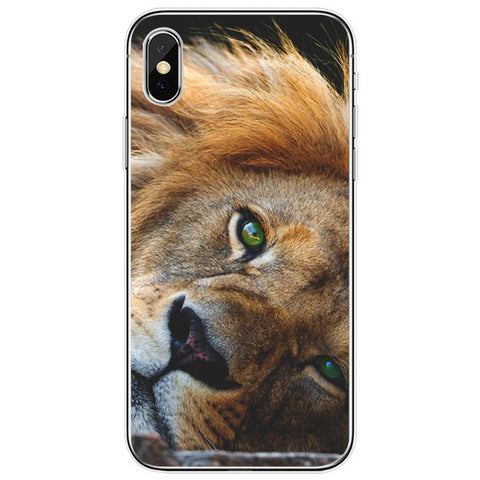 Lion iPhone Case Green Eyes