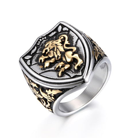 Lion Ring Royal Figure