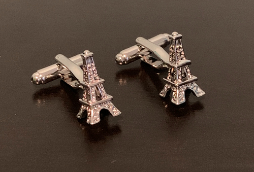 Silver Eiffel Tower cufflinks