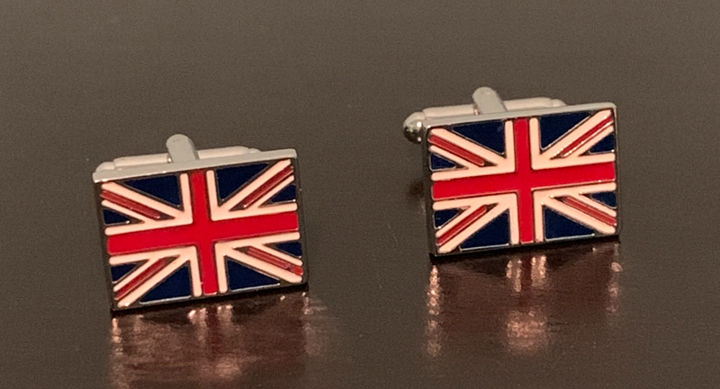 British Union Jack Flag red white and blue cufflinks