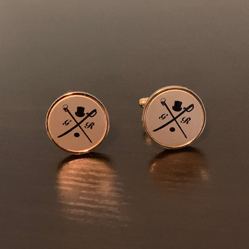 Original GR Gold on Black Cufflinks