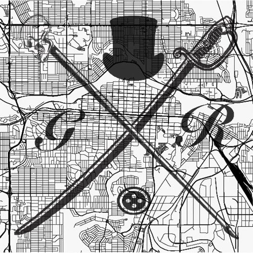 Calgary Street Map Black and White Pocket Square