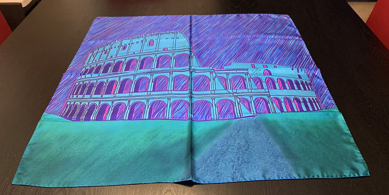 Rome - Colosseum - Blue Ladies Scarf
