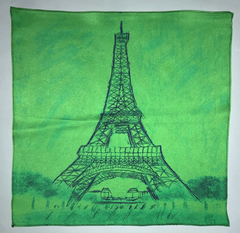 Paris - Eiffel Tower Monochrome Mint Ladies Scarf