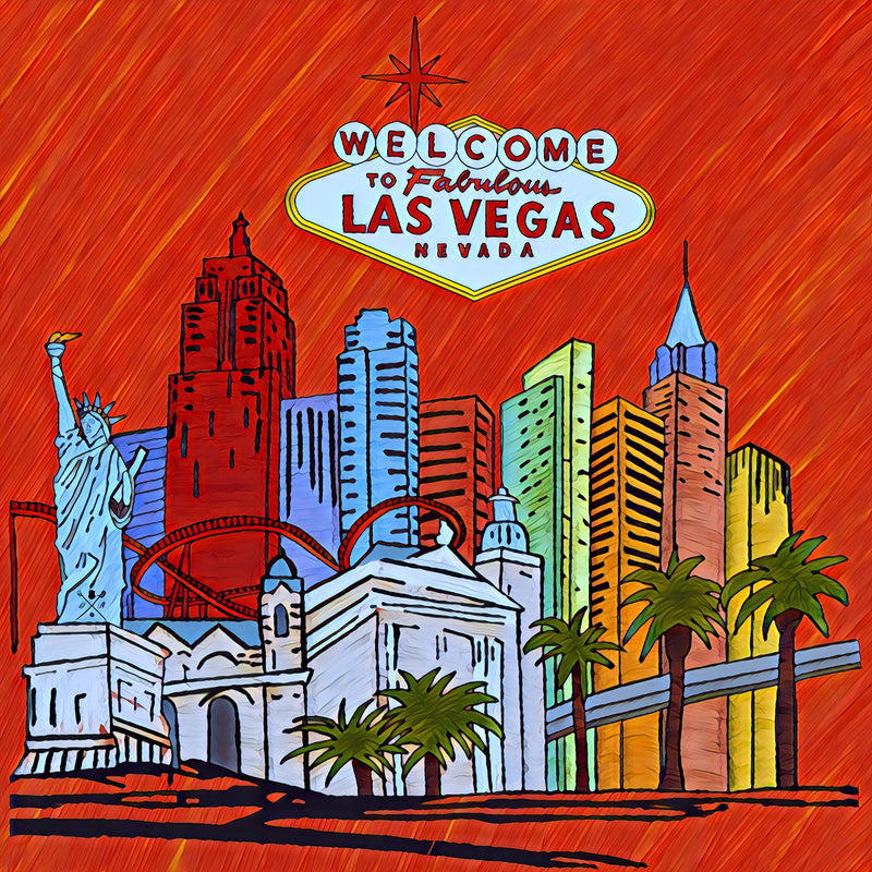 Fabulous Las Vegas Red Pocket Square