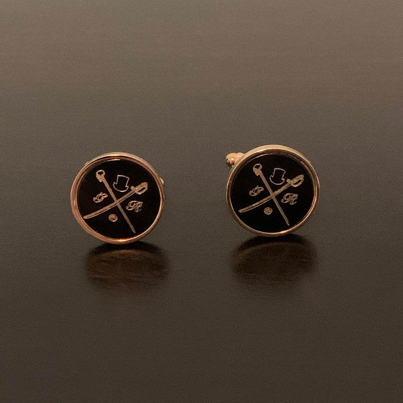 Original GR Black on Gold Cufflinks