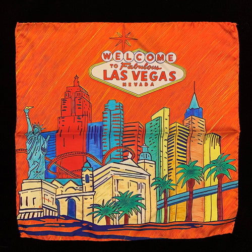 Fabulous Las Vegas Orange Pocket Square