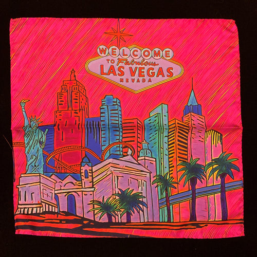 Fabulous Las Vegas Pink Pocket Square