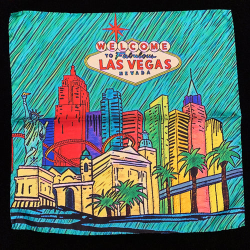 Fabulous Las Vegas Mint Green Pocket Square