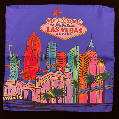 Fabulous Las Vegas Electric Blue Pocket Square