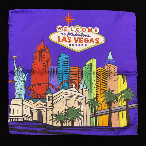 Fabulous Las Vegas Purple Pocket Square