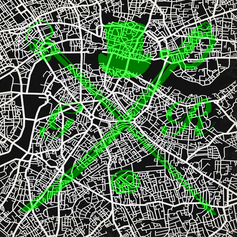 London Street Map Bold Green