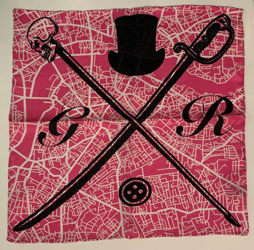 London Street Map Pink Ladies Scarf