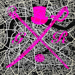London Street Map Hot Pink