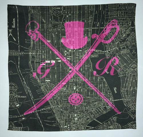 London Street Map Hot Pink Ladies Scarf