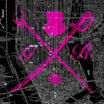 New York Street Map Hot Pink Ladies Scarf