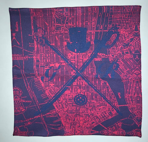 New York Street Map Salmon Ladies Scarf