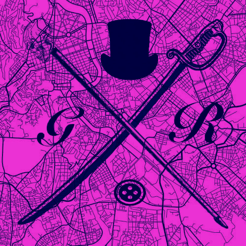 Rome Street Map Magenta Ladies Scarf