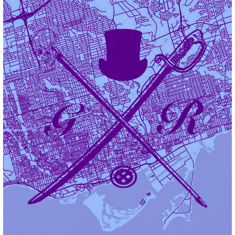 Toronto Street Map Purple Ladies Scarf