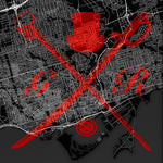 Toronto Street Map Bold Red
