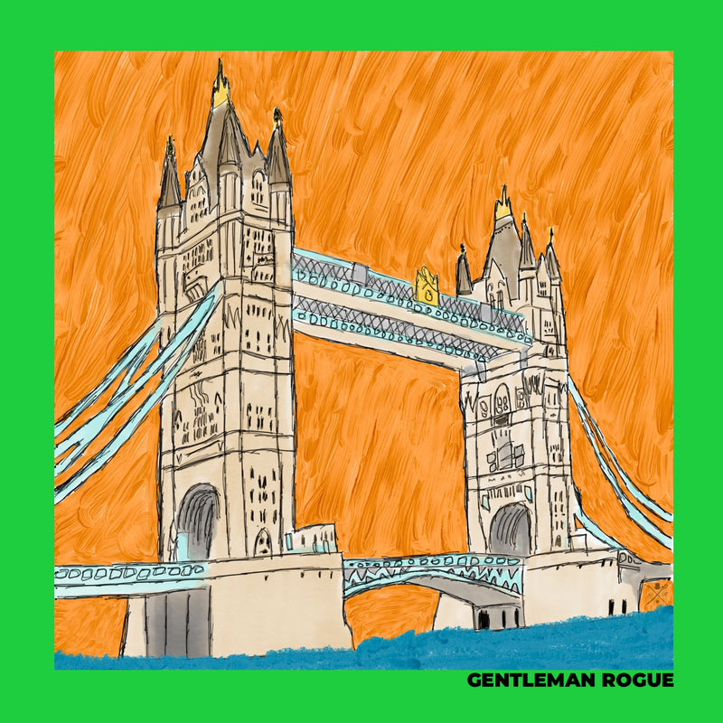 London - Tower Bridge Green Ladies Scarf