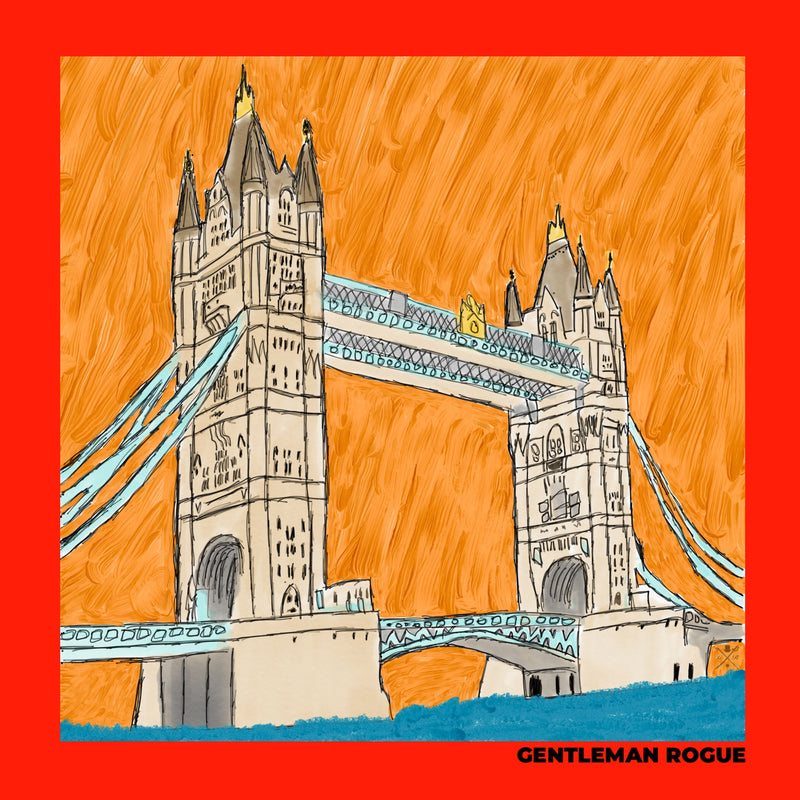 London - Tower Bridge Red Ladies Scarf