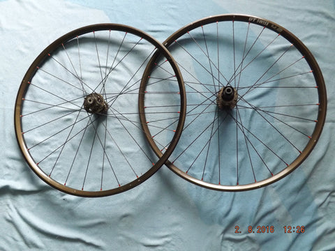 "DT SWISS 4.2 STOUT 26"" BRONZE MTB WHEELSET F+R 9MM/10MM XC"