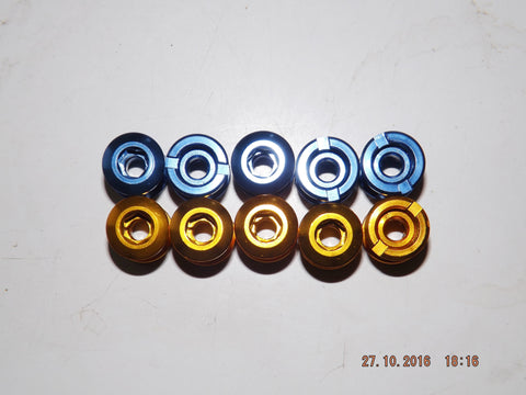 ANODISED DOUBLE/TRIPLE CRANK CHAIN RING BOLT x 5 NEW MTB XC DH AM