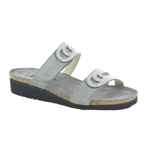 Naot Ainsley (Women) - Light Grey Sandals|Wedge Sandals - The Heel Shoe Fitters