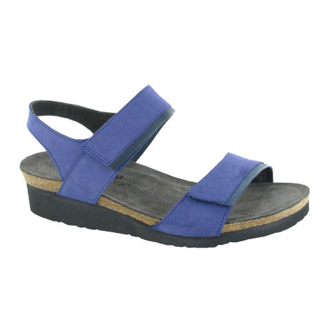 Naot Aisha Elegant (W) - Indigo Nubuck/Ink Leather Sandals|Wedge Sandals - The Heel Shoe Fitters