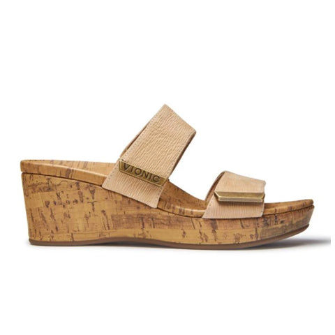 Vionic Pepper - Wheat Sandals|Wedge Sandals - The Heel Shoe Fitters
