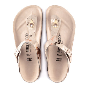 Birkenstock Gizeh (Women) - Vintage Metallic Rose Copper Leather